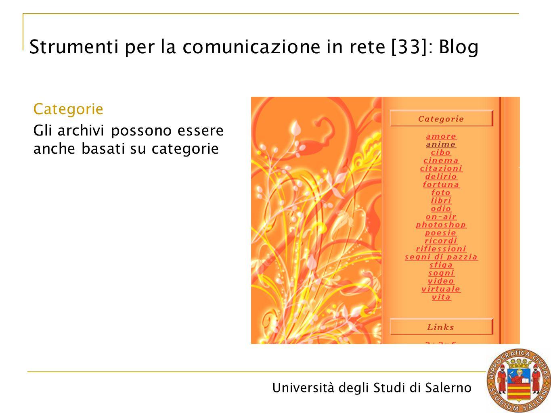 Strumenti per la comunicazione in rete [33]: Blog